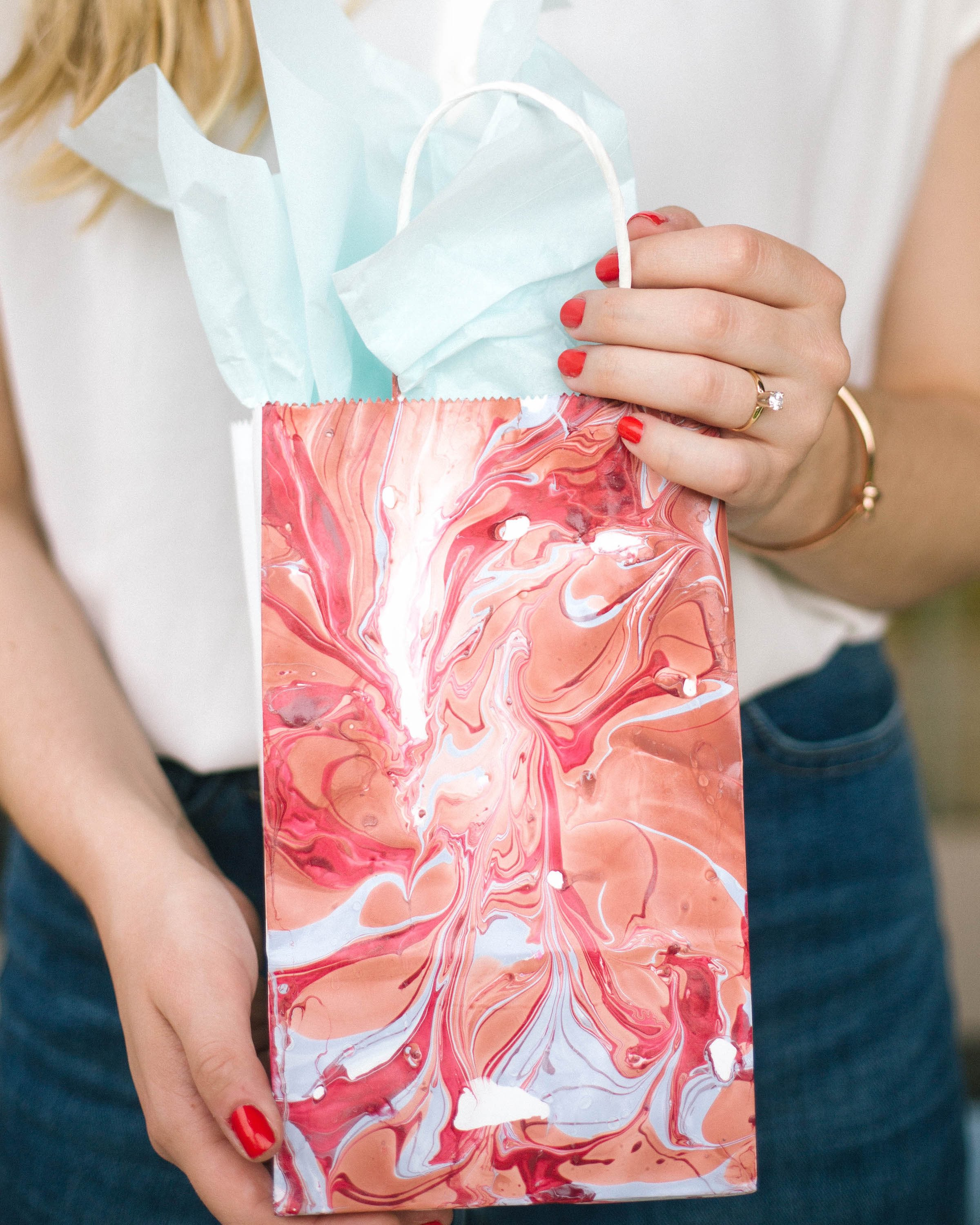 LightWorkers marbleized gift bags