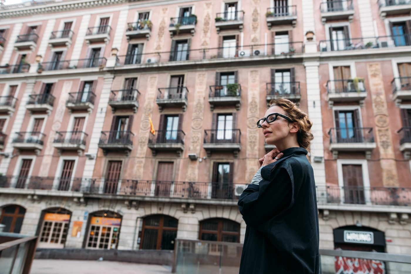 Woman in the city.