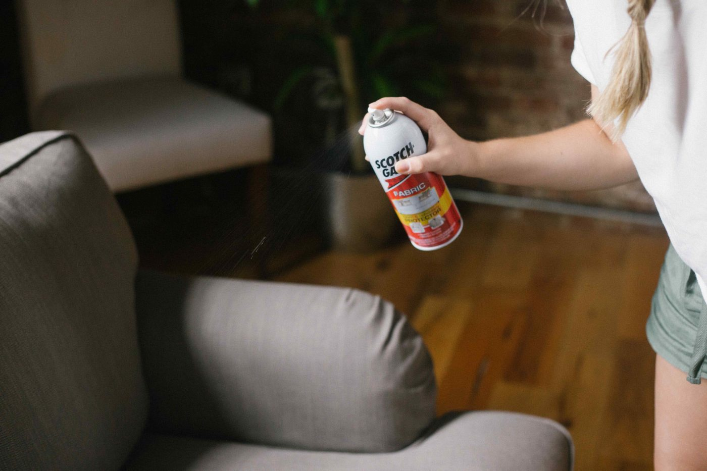 Couch-spraying.