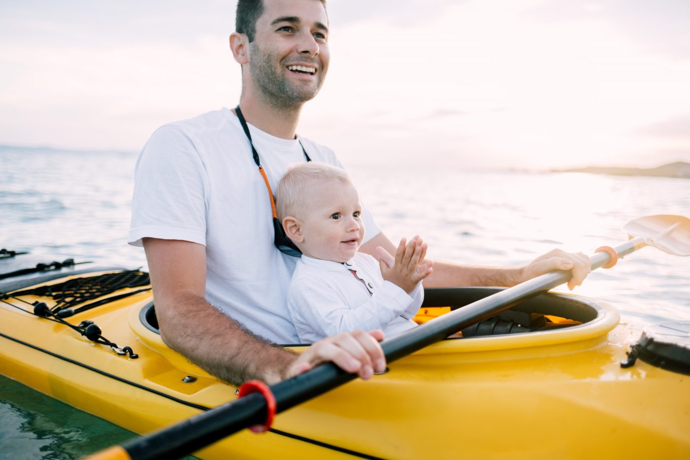 Dad-and-son-kayaking.