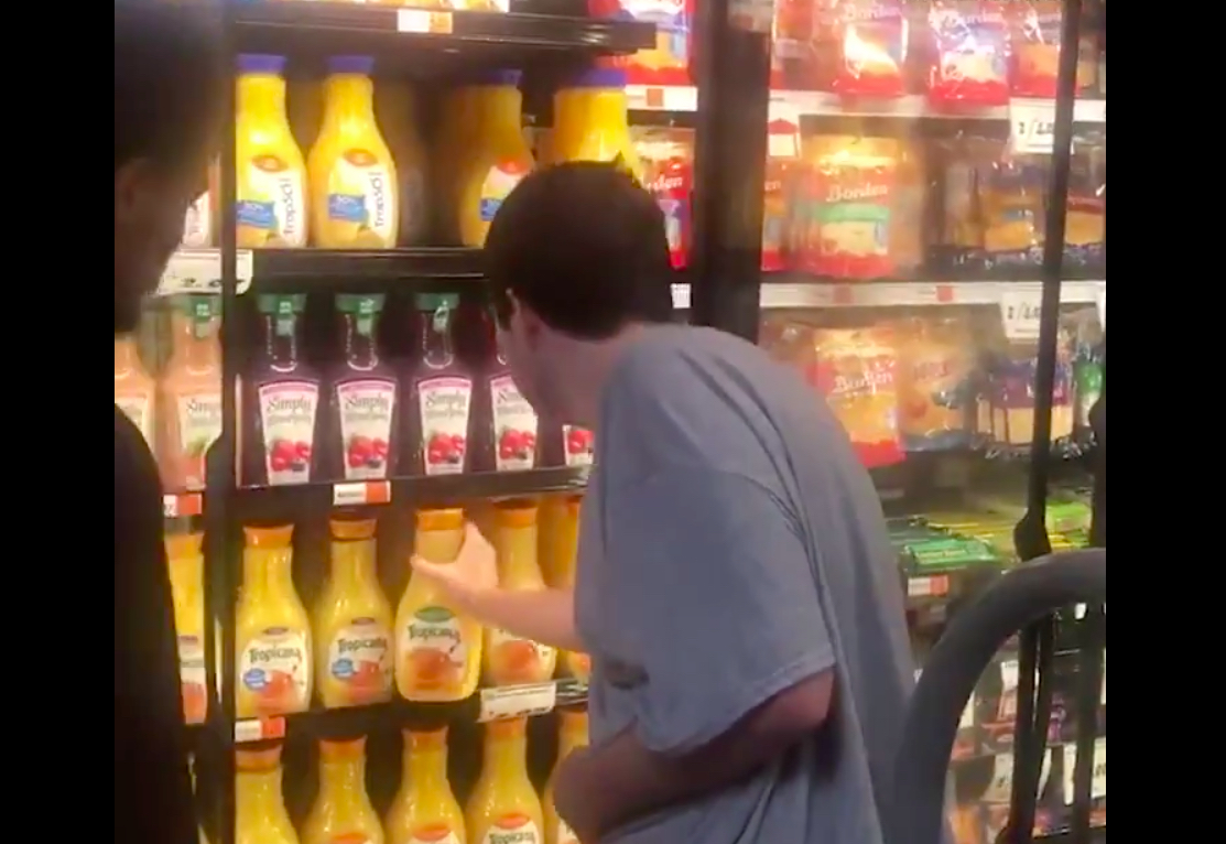 Dad Overcome with Emotion as Grocery Store Clerk Helps His Autistic Son Stock Shelves