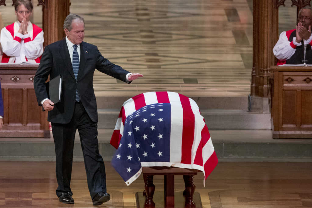 'Dad is Hugging Robin and Holding Mom's Hand Again': Emotional George W. Bush Delivers Perfect Eulogy for Beloved Father