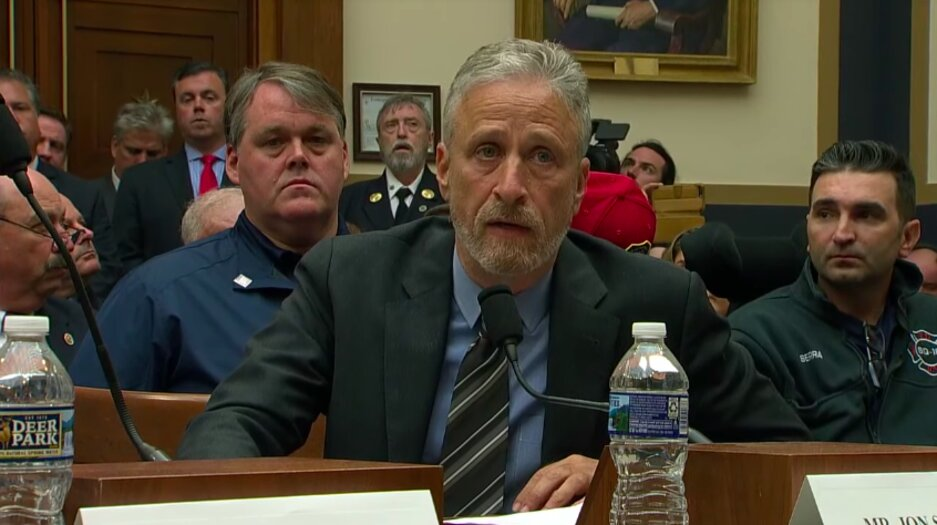 Jon Stewart Blasts Empty Congressional Panel for Failing Dying 9/11 First Responders