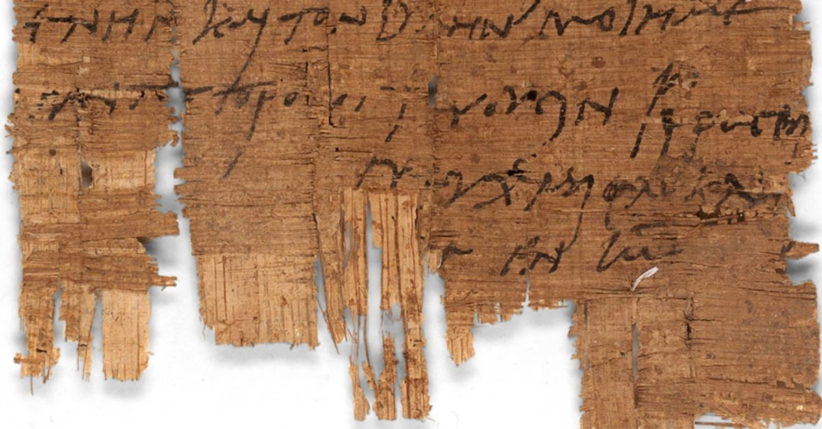 The Oldest Christian Letter Outside the Bible Discovered - Here's What It Says.