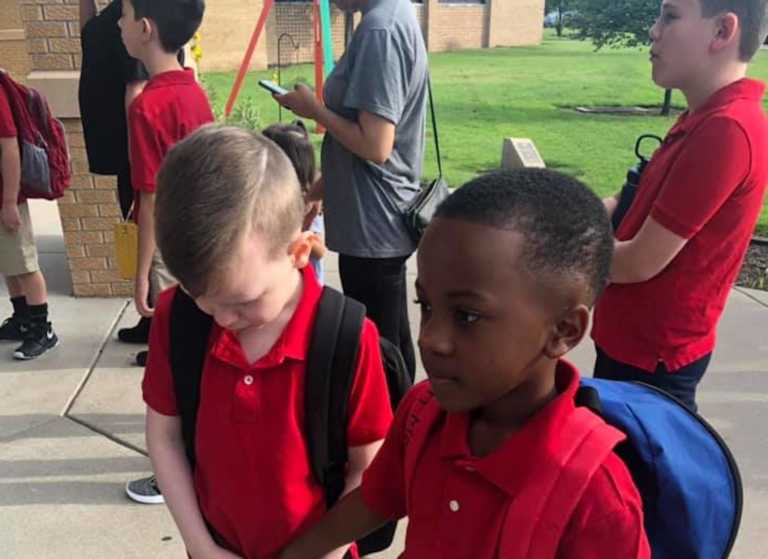 'He's a Kid with a Big Heart': Second Grader Comforts Struggling Autistic Child on First Day of School