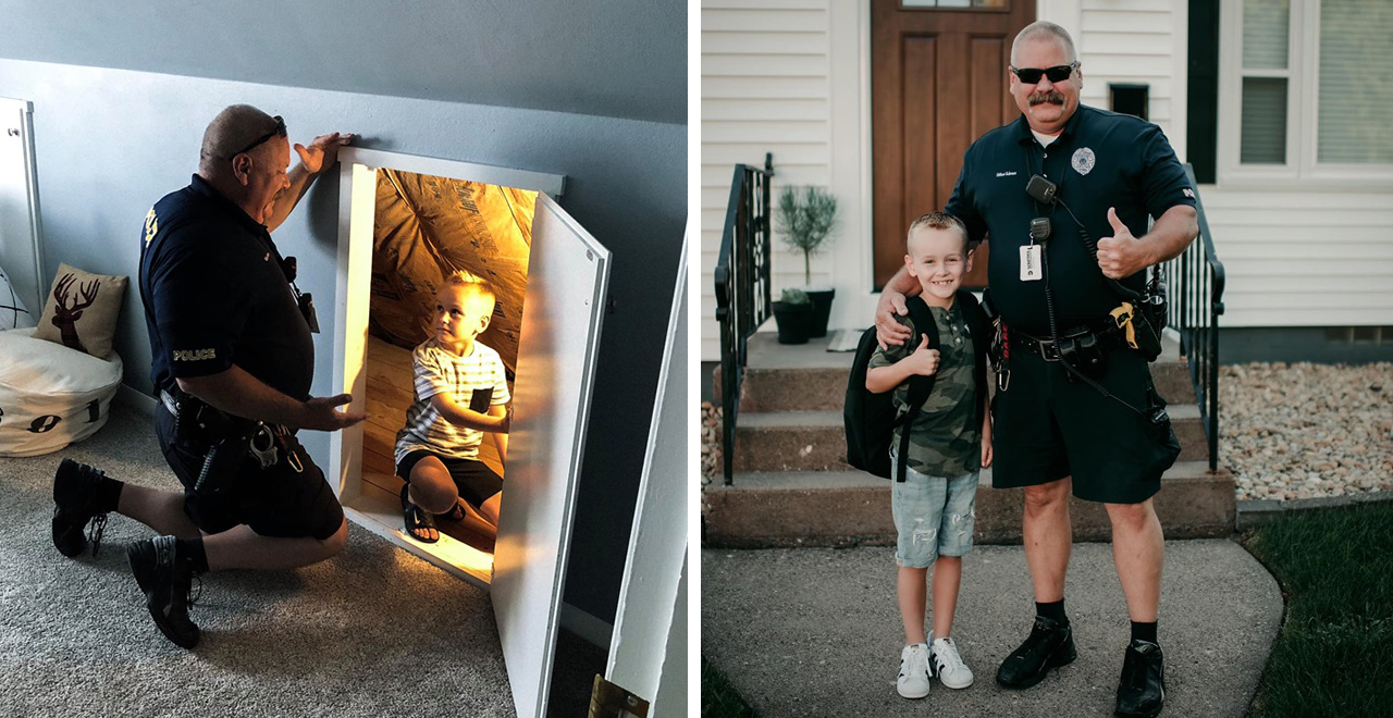 Iowa Officer Responds to 6-Year-Olds Fear of Monsters and Saved the Day