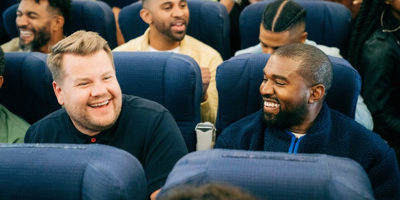 Kanye West Joins James Corden for 'Carpool Karaoke,' Performs 'Jesus Walks'