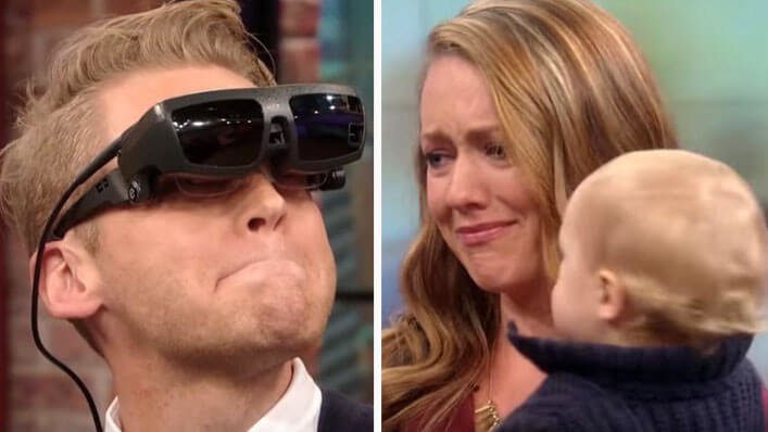 Watch as Blind Father Is Given the Gift of Sight, See's Wife and Baby for the First Time