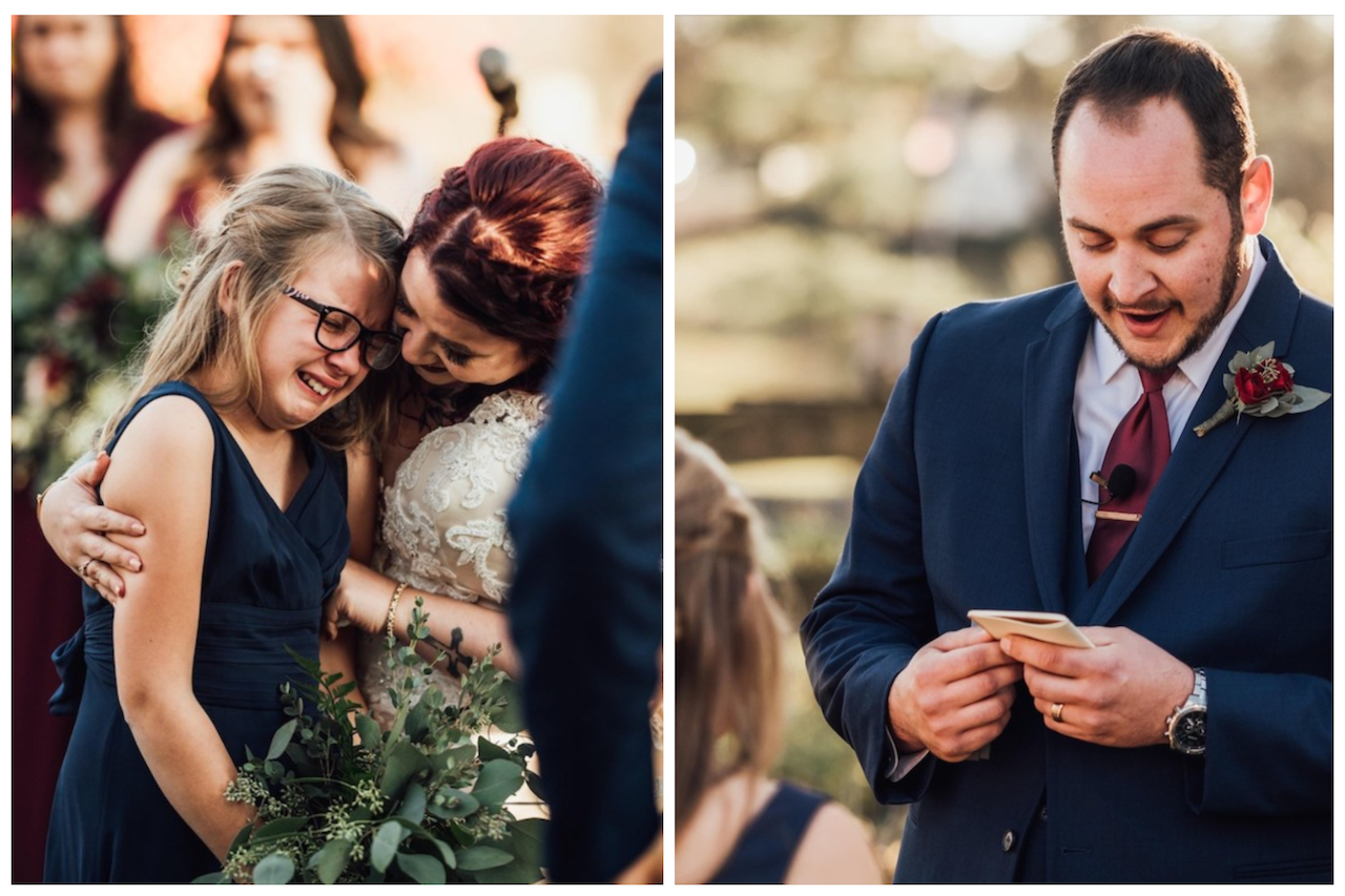 Groom Makes Tear-Jerking Vows to Stepdaughter as He Marries Her Mother
