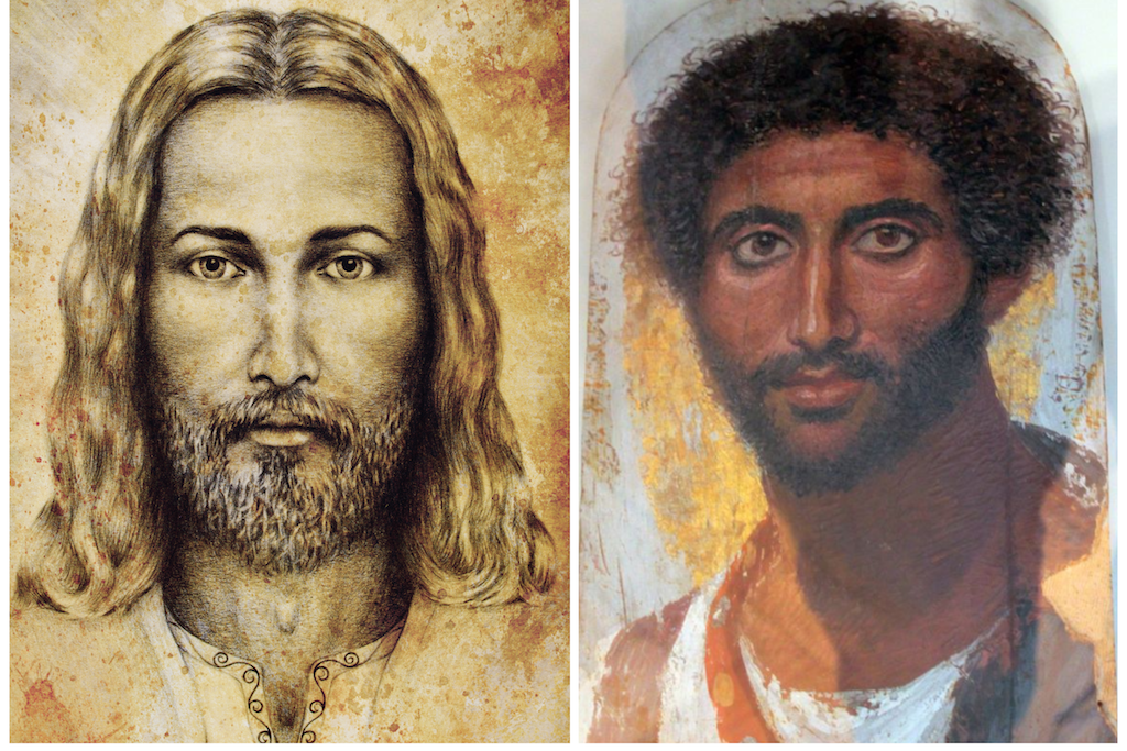 Illustrations of what Jesus might have looked like.