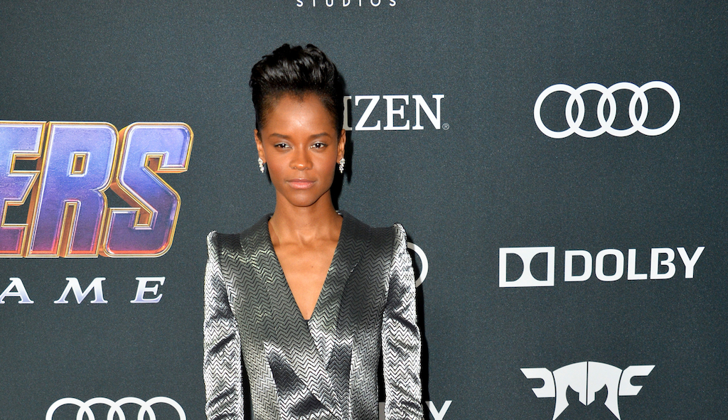 Letitia Wright at the world premiere of Marvel Studios'