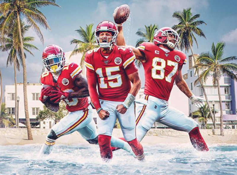 Super Bowl promo image for the Kansas City Chiefs