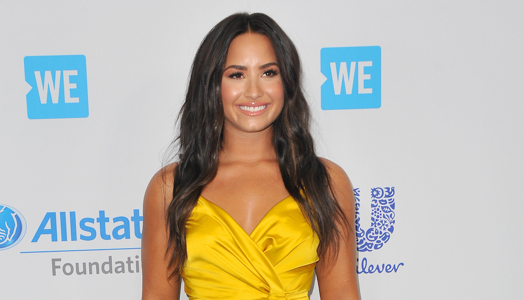 Demi Lovato at the WE Day California 2017 held at the Forum in Inglewood